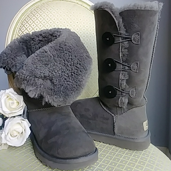 ddb07935492 Ugg Bailey button Tall Boots-Gently Used!